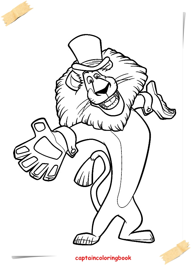 Madagascar Coloring Pages free ebook - Coloring Page