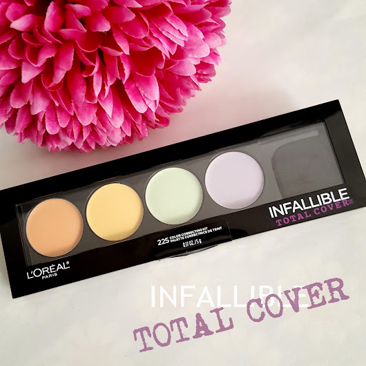themakeupnut: L'Oreal Infallible Total Cover Colour Correcting Concealer kit  review