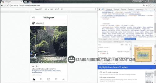 cara upload foto di instagram lewat uc browser