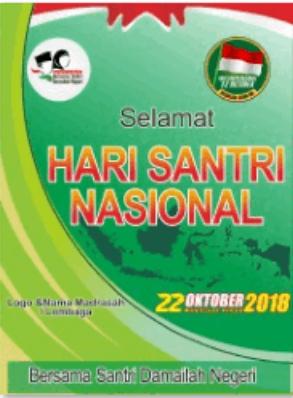 1. Banner Spanduk Ucapan Hari Santri Nasional 2019 - Fone Tekno