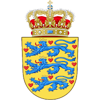 Logo Gambar Lambang Simbol Negara Denmark PNG JPG ukuran 200 px