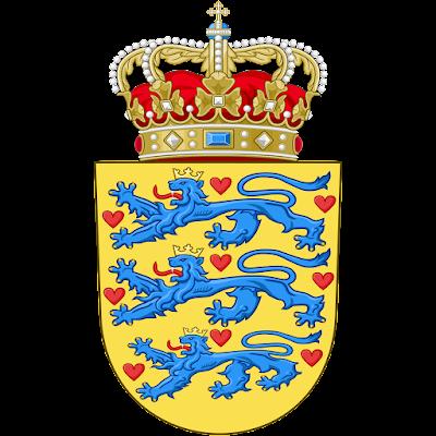 Coat of arms - Flags - Emblem - Logo Gambar Lambang, Simbol, Bendera Negara Denmark