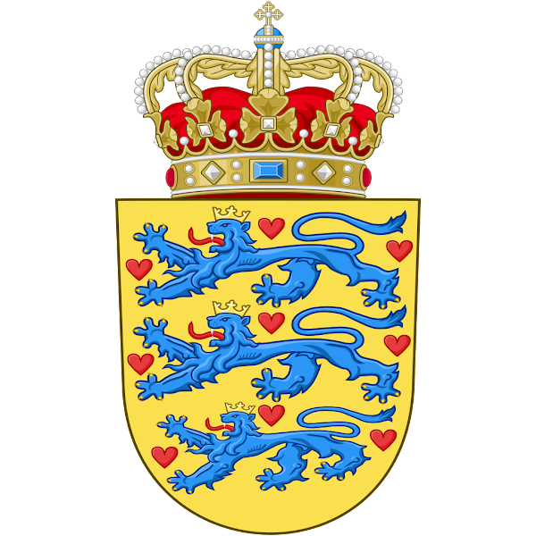 Logo Gambar Lambang Simbol Negara Denmark PNG JPG ukuran 600 px