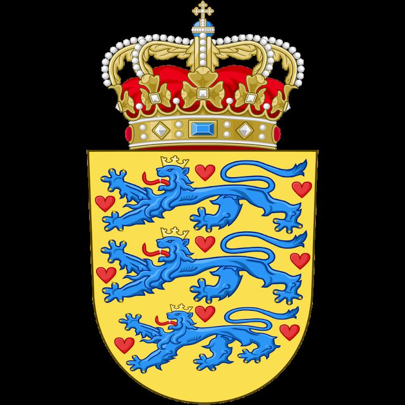 Logo Gambar Lambang Simbol Negara Denmark PNG JPG ukuran 800 px