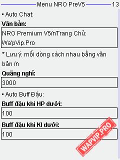 wapvip-NRO 1.1.7 Premium V5 - Fix Lỗi, Auto Buff Đậu, Auto Đánh Theo Thời Gian