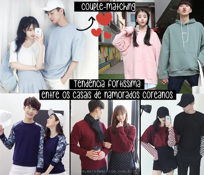 Moda Coreana: couple matching