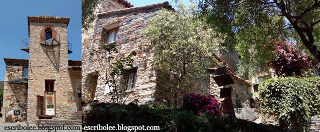 ermita de patones y casas típicas del pueblo