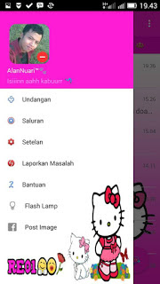 BBM Hello Kitty Transparan v3.0.1.25 MOD APK Clone