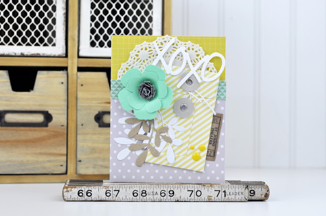 Jen's Card Making Video: Using Pre-made Die Cuts and Manual Die Cuts to Create a Card. (includes video)