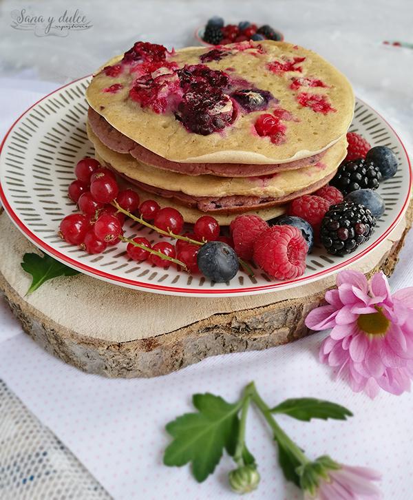 pancakes-avena-frutos rojos