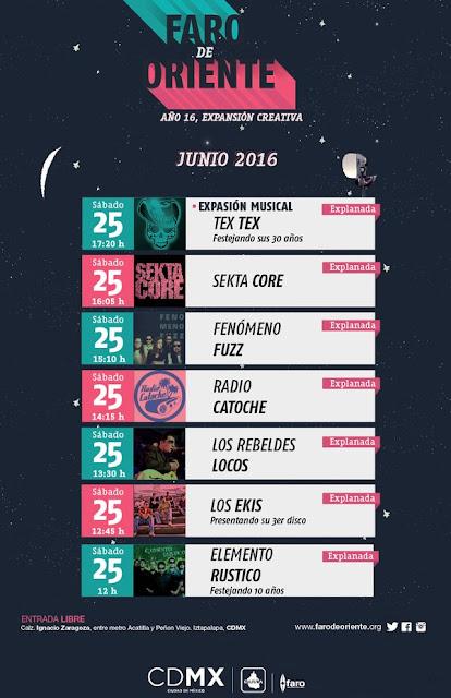 Cartel del concierto de aniversario Faro de Oriente
