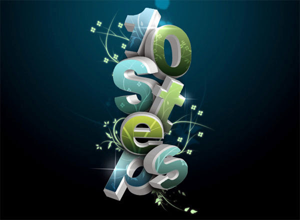 Create a 3D Flowery Text Effect