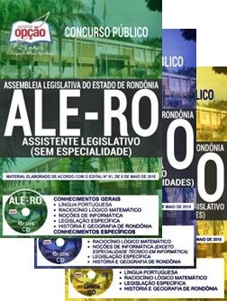 Apostila Concurso ALE-RO Analista e Assistente Legislativo