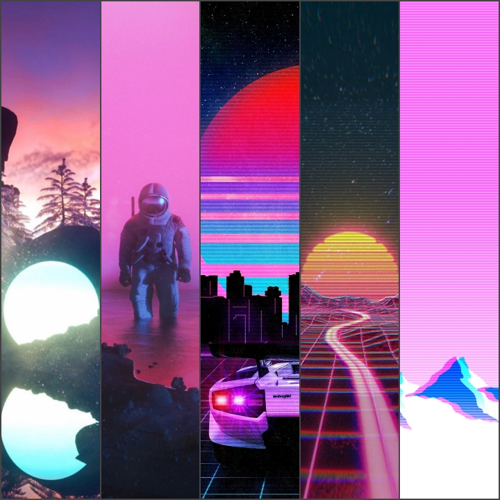 AESTHETIC VAPOWAVE SYNTHWAVE WALLPAPER IPHONE ANDROID