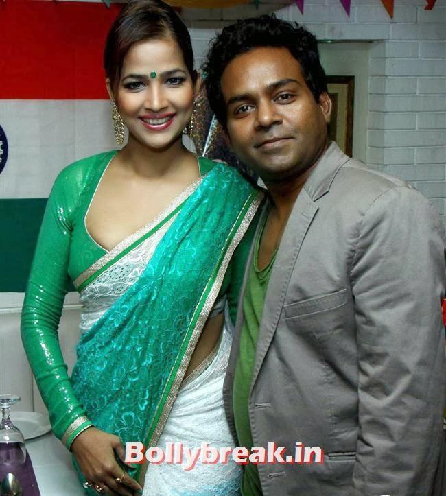 Tanisha Singh and Girish Wankhede, BGrade Movie Actresses Celebrate Republic Day at Peninsula Grand