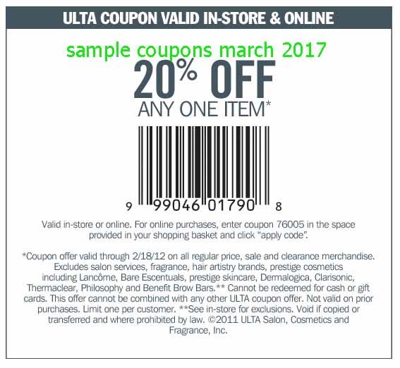 Ulta coupon codes