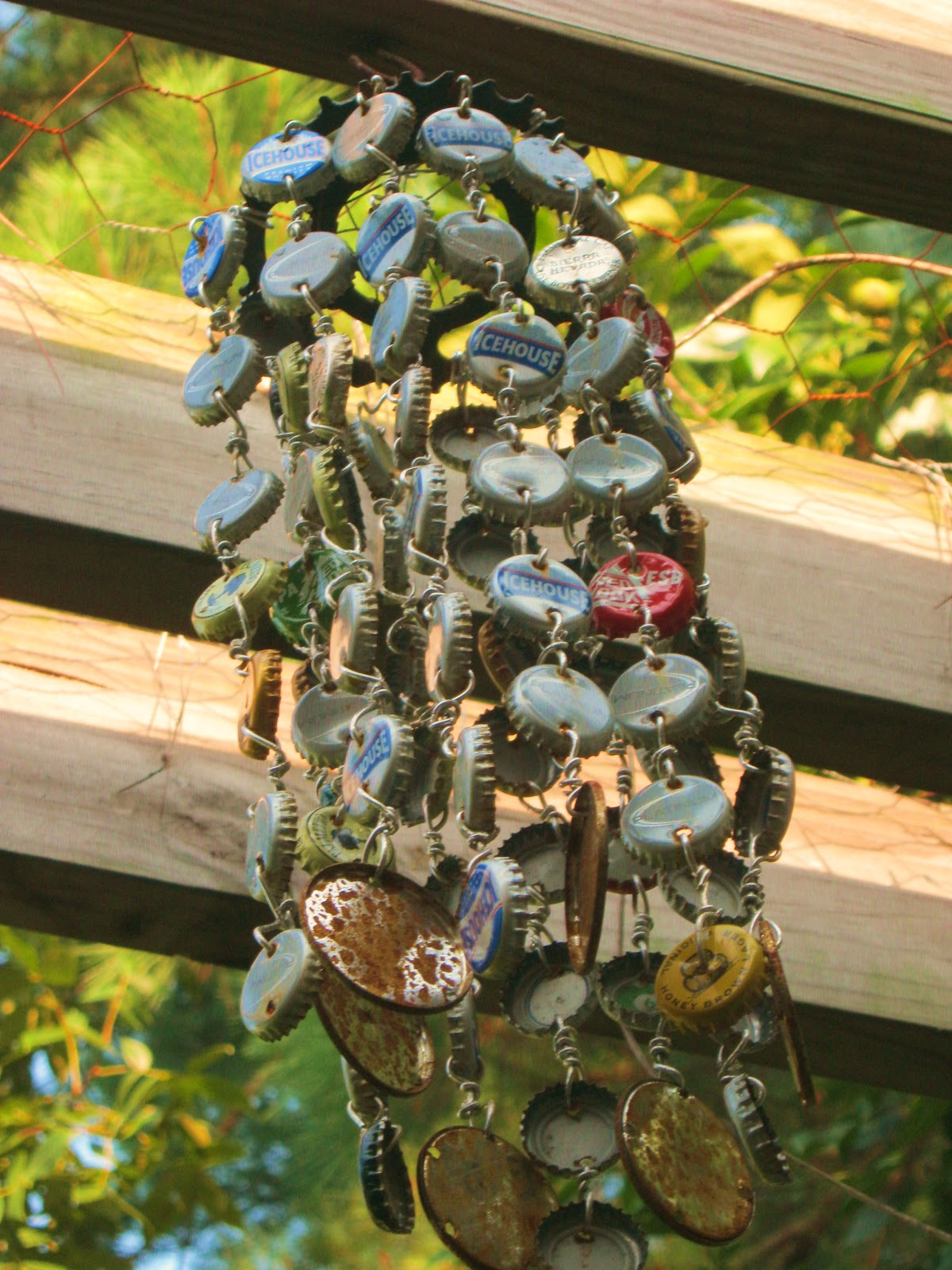 Trina Is Artsy Sy How To Make A Bottle Cap Wind Chime