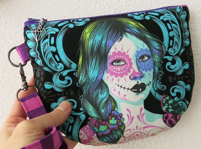 Luna Lovequilts - Pouch in De La Luna collection by Tula Pink - Front side