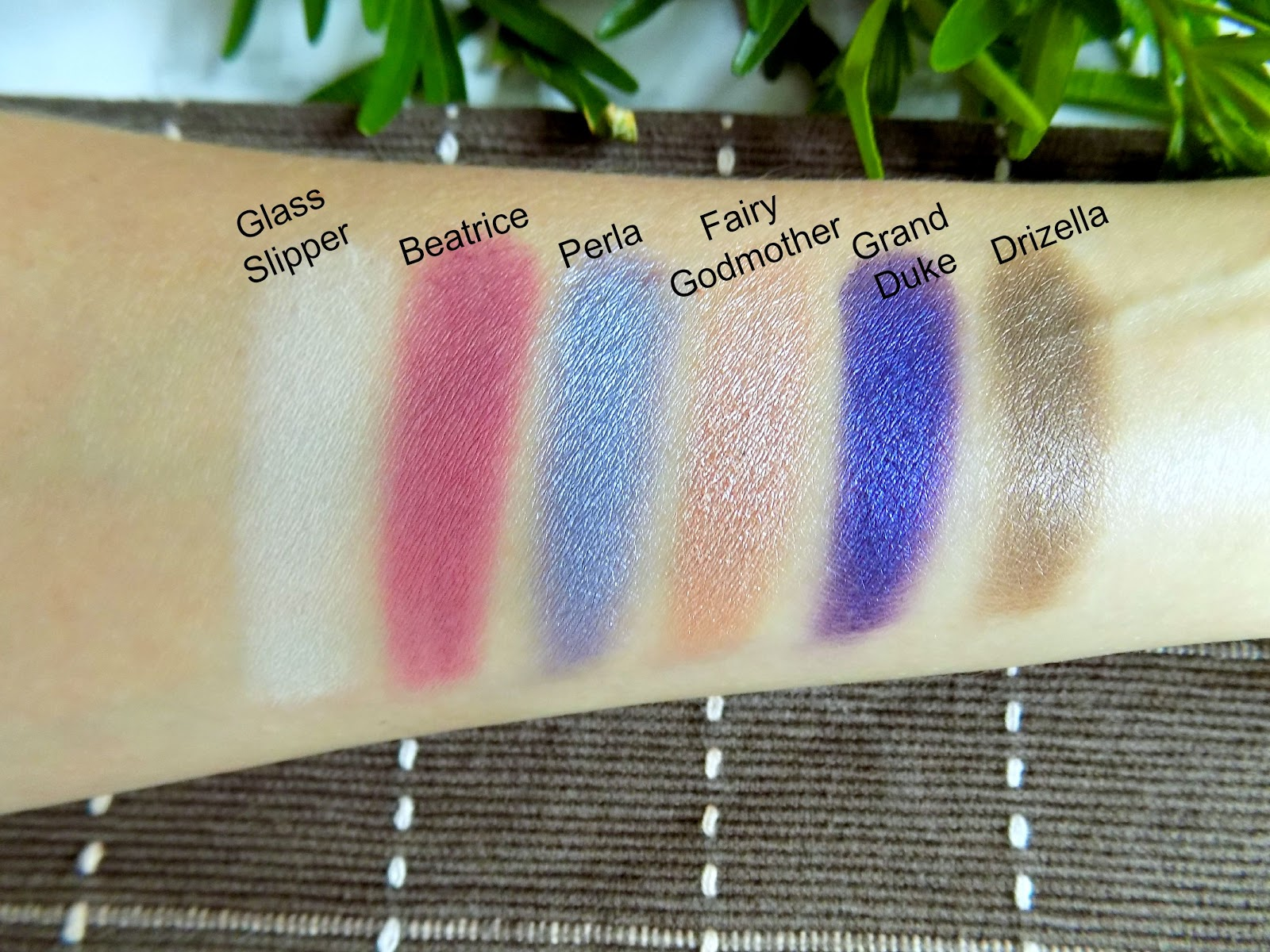 Sleek Enchanted Forest Palette Swatches
