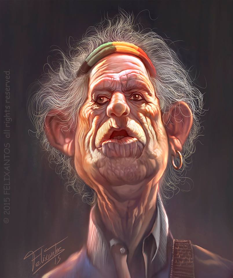Keith Richards por Felixantos