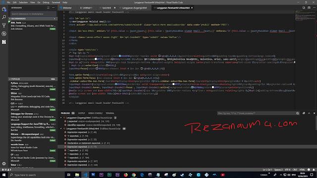 Tampilan keseluruhan Visual Studio Code