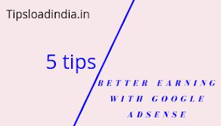 Google AdSense earning, Google AdSense