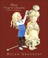 cover page of Alice Through The Looking-Glass, illustrated by Helen Oxenbury