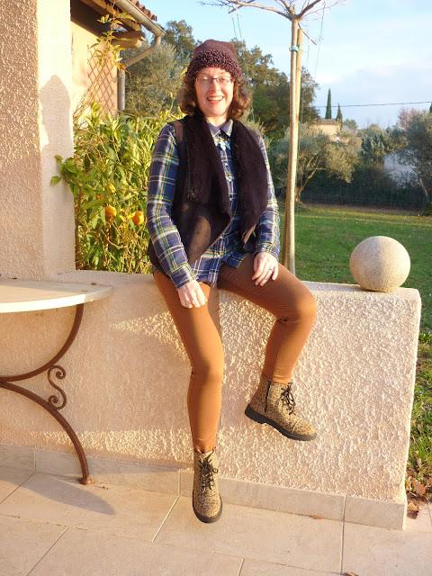 Check Shirt, Dorothy Perkins Petite Shearling Gilet, Leopard Print DM's | Petite Silver Vixen