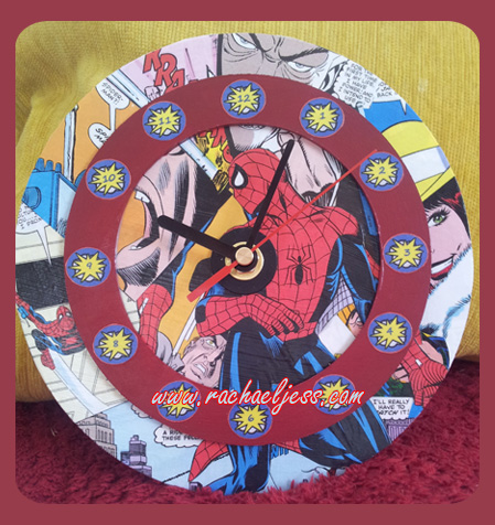 creating a spider-man clock