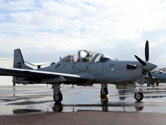 A Super Tucano aircraft: United States plan to deliver the 12 planes ordered in 2024