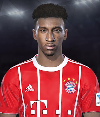 PES 2018 Kingsley Coman Face by Facemaker JuuanKaa1990