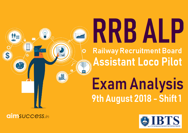 Railway RRB ALP Exam Analysis 9th August 2018 (Shift 1)