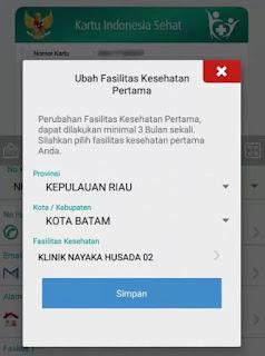 Ubah faskes tingkat 1 bpjs via online