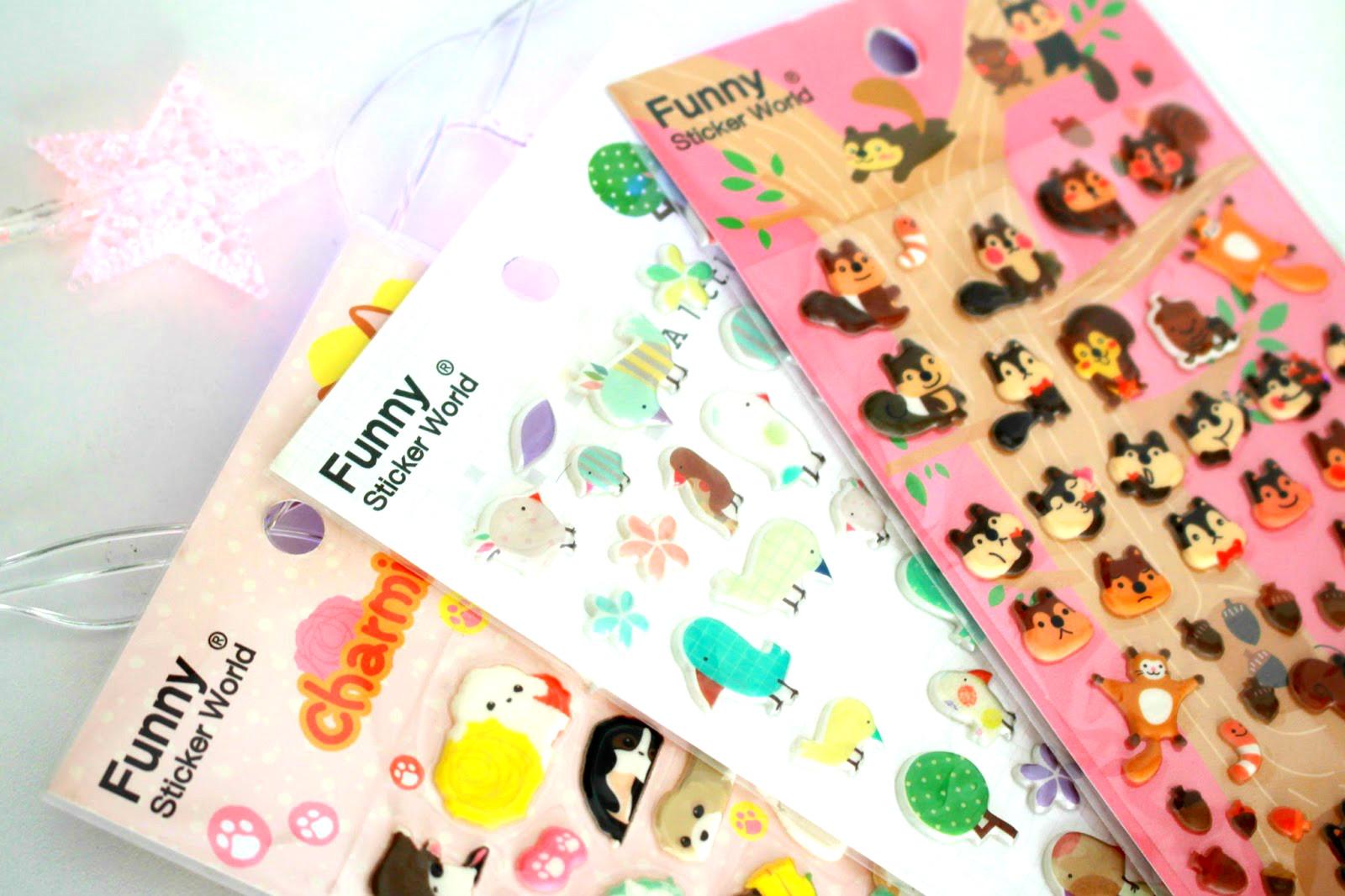 Comprinhas de papelaria: Adesivos Funny Sticker World