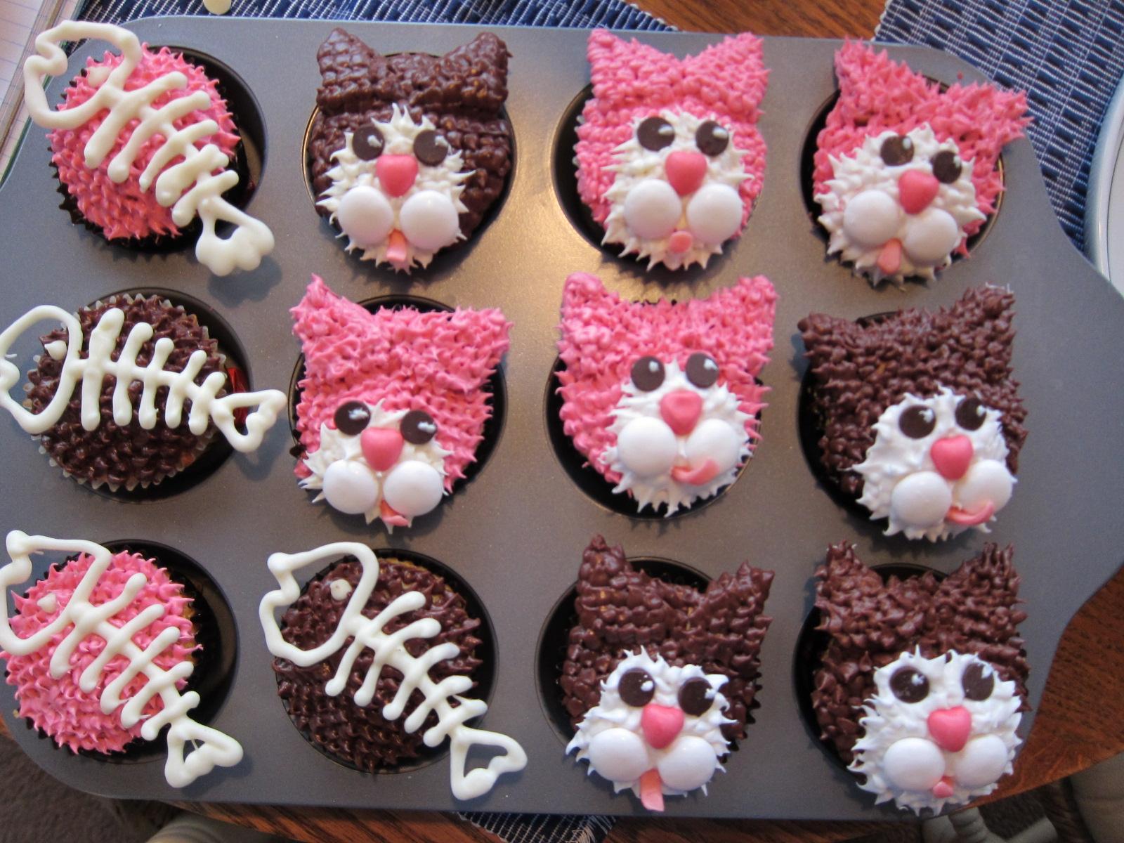 Cupcake Decorating Ideas Cats