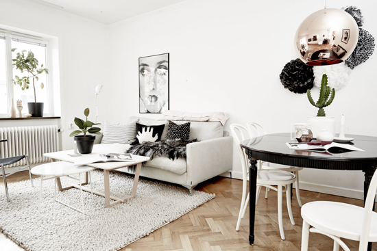 A bright scandinavian apartment for sale in Lärlingsgatan, Sweden via Västanhem
