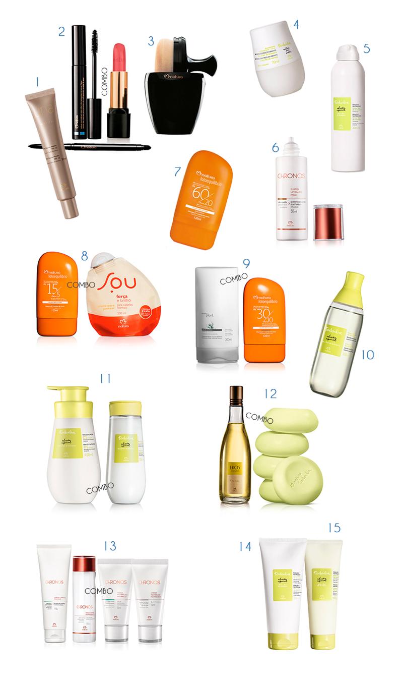 Maquiagem e produtos de beleza Natura para o verão