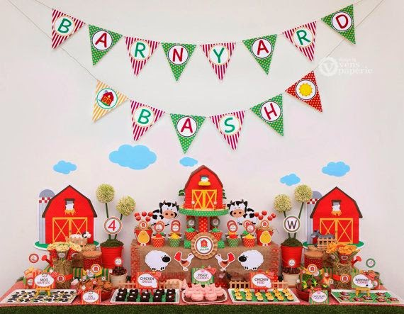 Miau Party Ideas Tema Animais Da Quinta Party Farm