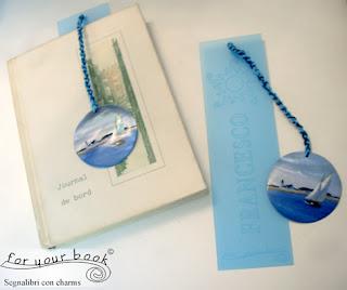 segnalibro regalo insegnanti uomini personalizzato ciondolo barca