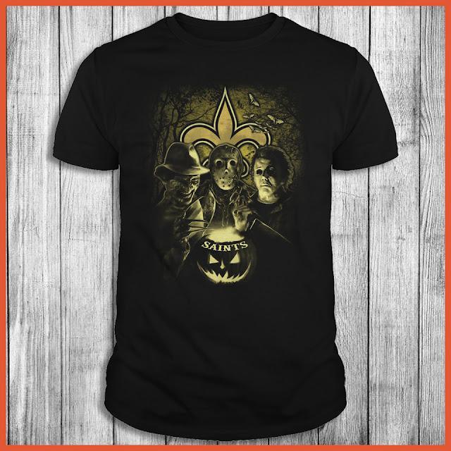 New Orleans Saints Halloween Horror Movie Shirt