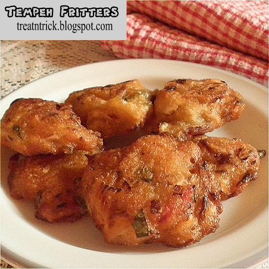 Tempeh Fritters/Cucur Tempeh Recipe @ treatntrick.blogspot.com