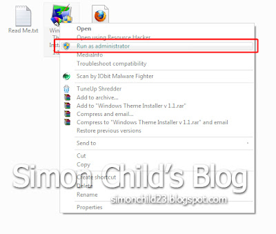 cara pakai theme installer, instal tema windows dengan theme installer, download gratis windows theme installer