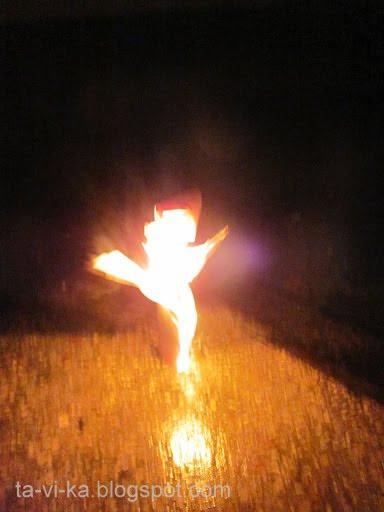 горящая Масленица