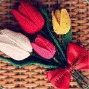 Tulipanes a crochet