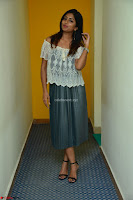 Eesha in a cute deep neck top and Skirt at at Big FM 123.JPG