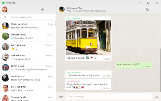 Whatsapp Desktop App Screenshot
