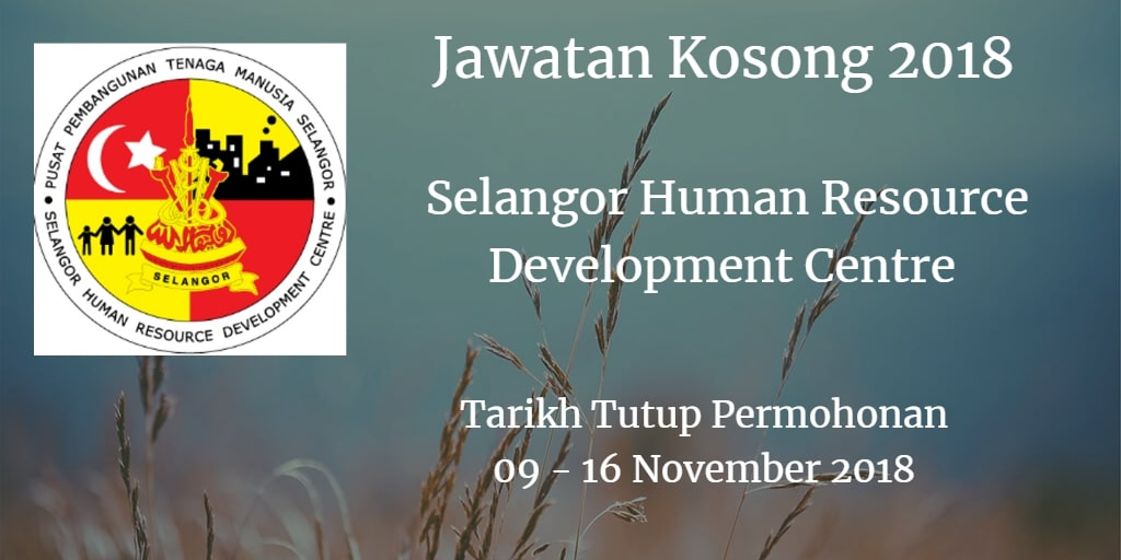 Jawatan Kosong SHRDC 09 - 16 November 2018