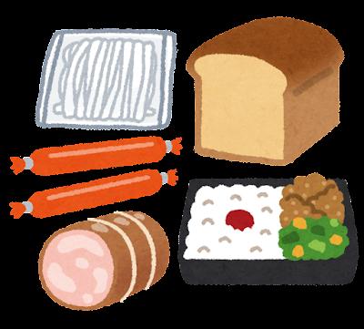 加工食品のイラスト(軽減税率)