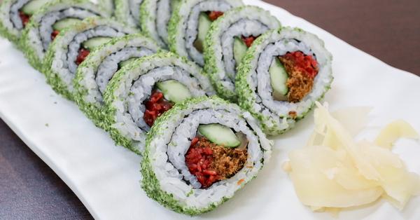 台中東區永興素食|花壽司、脆皮素圓,素食日式美食,原忠孝夜市