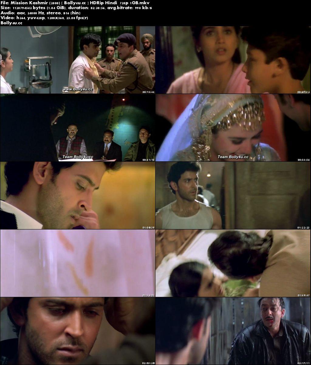 Mission Kashmir 2000 HDRip 1Gb Full Hindi Movie Download 720p